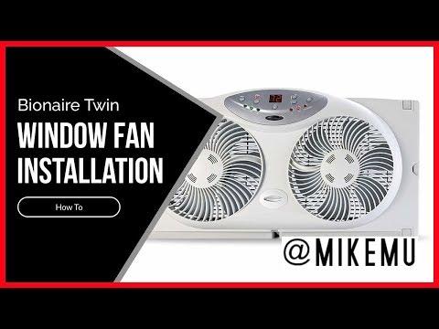 How To Install A Window Fan | Bionaire Twin Window Fan