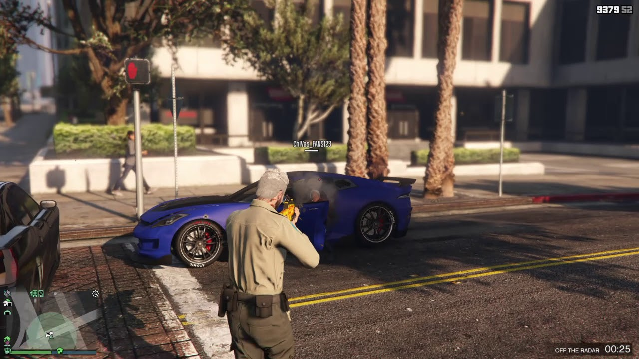 Grand Theft Auto V playing as  a COP
