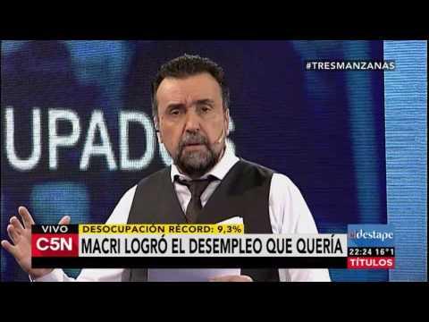C5N - El Destape: Programa 23/08/2016. Macri logró el desempleo que quería