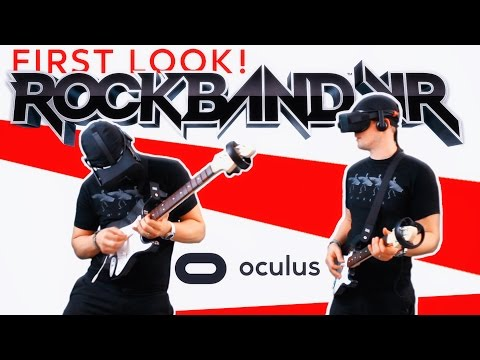 ROCKBAND VR | First Look! YOU ARE THE ROCKSTAR! (Oculus Rift)