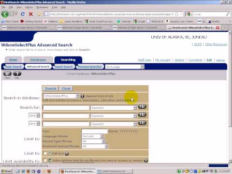 Searching OCLC FirstSearch article collections