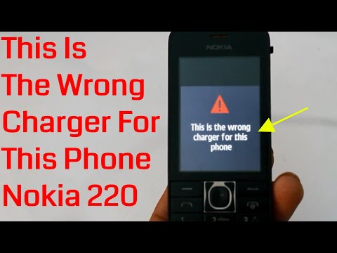 This is the wrong charger for this Phone While Charging Nokia 220
