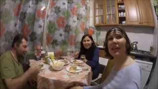 #726 Россия Санкт Петербург В гостях у сетренки Кошки Рецепты салатиков