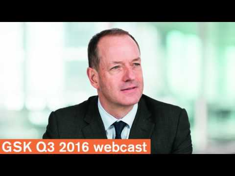 GSK Q3 2016 results webcast