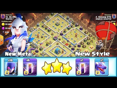 NEW META 10 WITCH+6 BAT SPELL & BAT SPELL+DRAGON SMASH TH12 ( Clash of Clans )