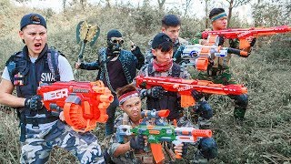 - LTT Nerf War Two Police SEAL X With Special Task Battle Criminal Group By Mega Nerf Guns