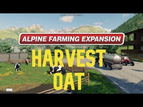 FS 19 Erlengrat Alpine Farming DLCEP47: Harvest oat  