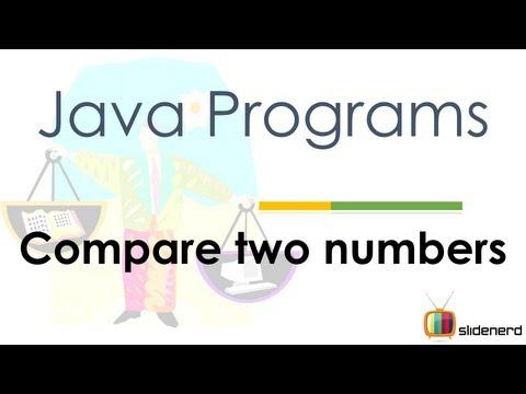 24 Java Compare 2 Numbers |