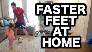 Soccer Footwork Drills AT HOME | How to improve your footwork in football