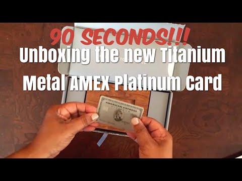 90 SECONDS! Unboxing the new TITANIUM METAL AMERICAN EXPRESS PLATINUM CARD!
