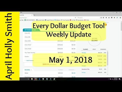 Every Dollar Budget Update   5/01/2018  Baby Step 3  April Holly Smith