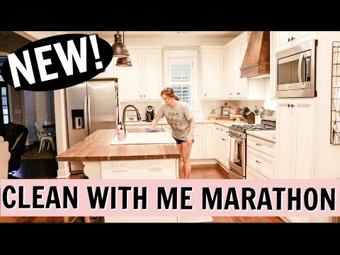 CLEAN WITH ME MARATHON 2019   OVER 1 1/2 HOURS OF CLEANING   CLEAN THE HOUSE   Amy Darley