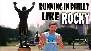 Running the Rocky steps like Rocky Balboa : A dream come true in Philadelphia summer 2013!