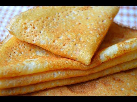 Тонкие Блины на Молоке с Дырочками.Секрет Тонких блинчиков|Thin Pancake Recipe.