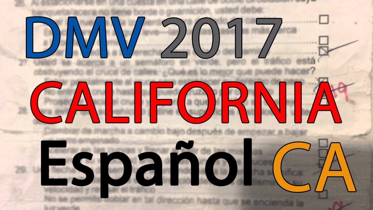 picture regarding Dmv Practice Test in Spanish Printable named Free of charge California DMV Allow for Prepare Try out 2017 in just Spanish serie 1