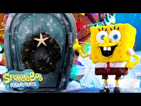 SpongeBob SquarePants | 'Santa Has His Eyes on Me' Holiday Remix | Nick