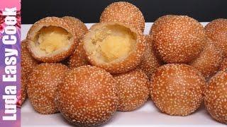 Новый Десерт СУПЕР ПОНЧИКИ китайская (вьетнамская) кухня  - Sesame Balls Recipe - Bánh Rán Bánh Cam