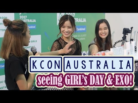 Seeing EXO, GIRL'S DAY in concert! | KCON Australia Day 1