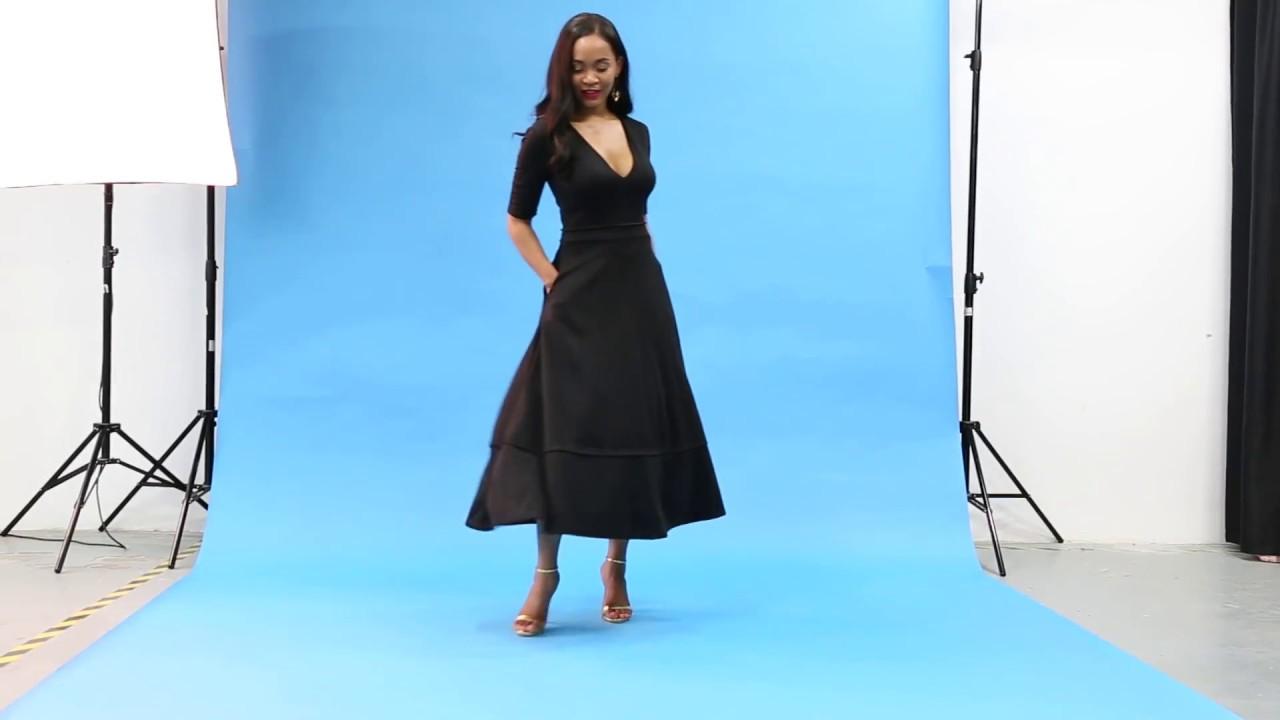ad0e657574a Half Sleeve Pocket Design High Waist Dress - YouTube