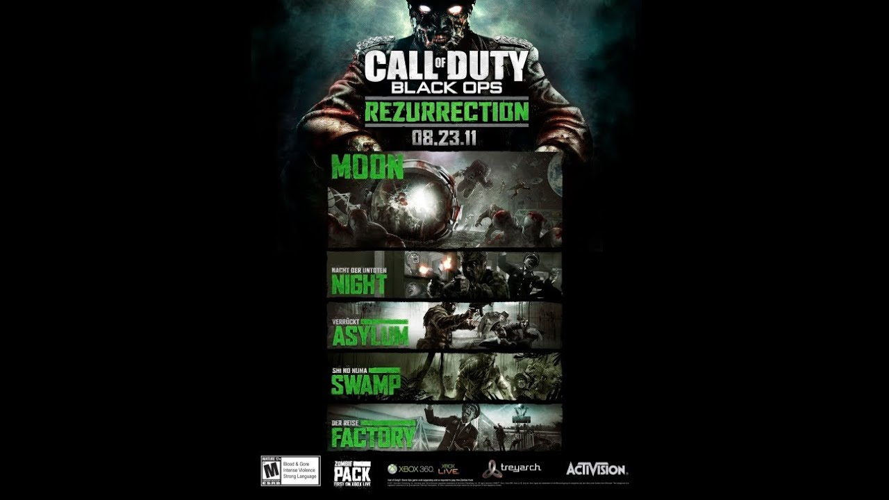 Call of Duty: Black Ops 'Rezurrection' Map Pack 4 DLC Announced! 5 Zombie Map Packs For Black Ops on black ops zombies 5 map, black ops 2nd map pack, future black ops map pack, black ops nazi zombies maps, black ops rezurrection map pack, nuketown zombies map pack, black ops zombies maps list, black ops zombie map names, black ops escalation map pack, black ops revolution map pack, black ops infected map pack, call of duty black ops 2 zombies new zombie pack,