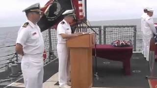 USS VANDEGRIFT Burial At Sea