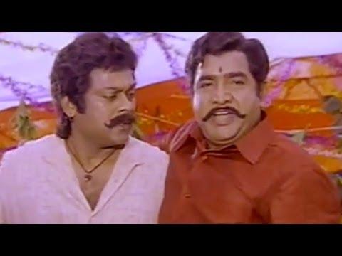 Sneham Kosam Movie || Chiranjeevi & Vijayakumar Heart Touching Scene