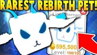 Tengo el RAREST REBIRTH PET TO MAX LEVEL 100!- Roblox Pet Ranch Simulator