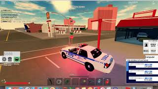 Me playing Police Sim NY on ROBLOX!