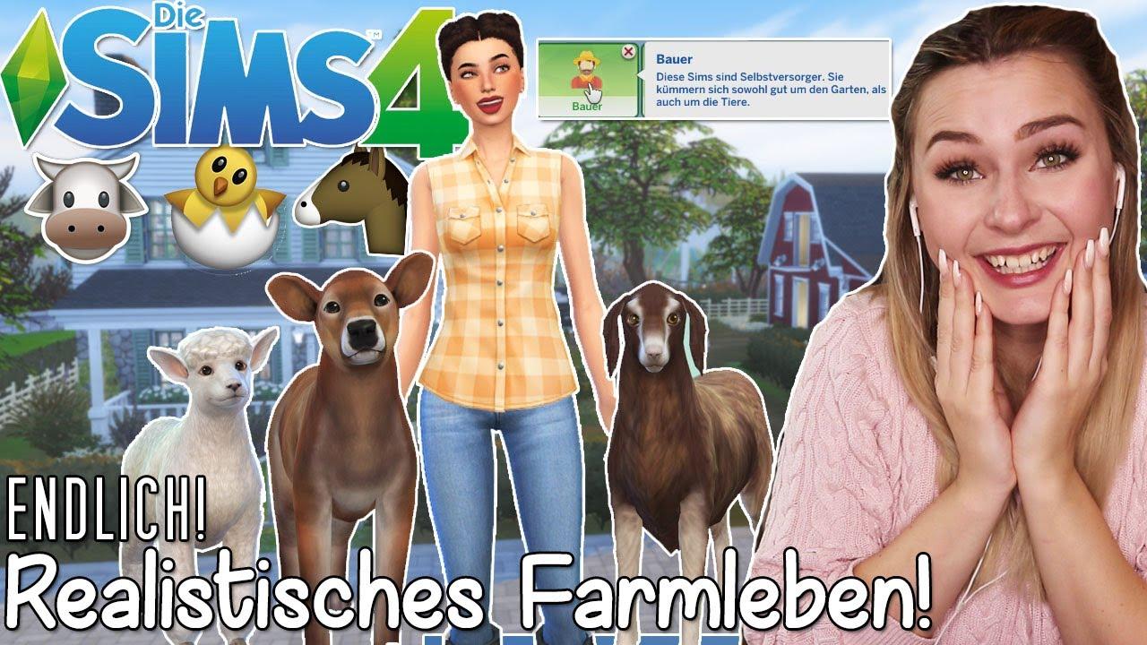 Kuhe Melken Huhner Versorgen Schafe Scheren Farm Mod Die Sims 4 Mods 5 Simfinity Youtube