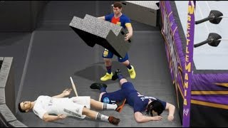 Cristiano Ronaldo se Pelea con Messi y Zlatan Ibrahimović - WWE 2K15 - PARTE 2
