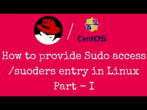 How To Give Sudoers Entry & Sudo Access To A User In Linux Part - I - [Hindi]