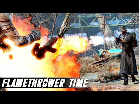 Fallout 4 Mods - Flamethrower / Elemental Cannon and More! thumbnail