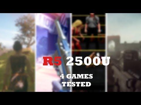 AMD RYZEN 5 2500U + VEGA 8 - 4 Games Tested - Part - I