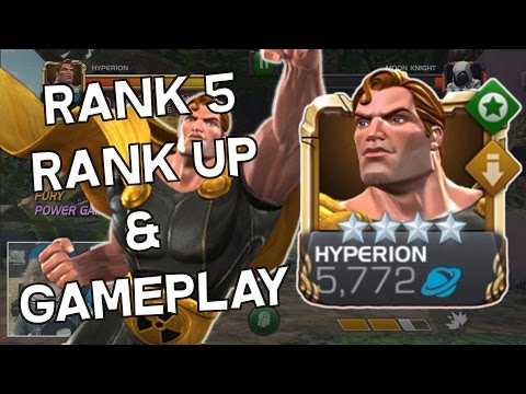Hyperion Rank 5 Rank Up & Gameplay - Marvel Contest Of Champions