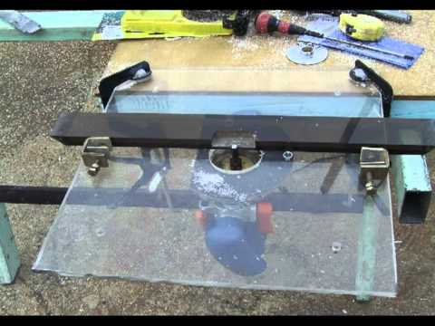 C mo hacer una mesa port til para fresadora router for Mesa fresadora casera