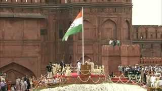 PM Modi unfurls the Tricolour flag at the ramparts of Red Fort on 69th Independence Day