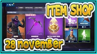 Fortnite ITEM SHOP November 28th all new SKINS and EMOTES-Playr NINE-English Fortnite EN