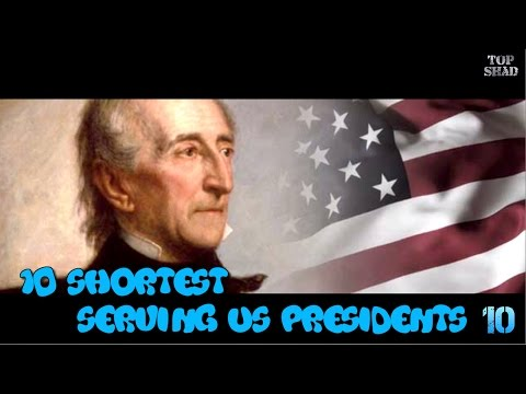 10 Shortest Serving US Presidents