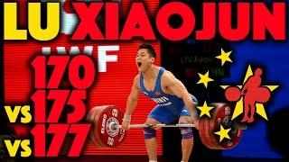 Lu Xiaojun (77) - 170kg/175kg/177kg Snatch Slow Motion
