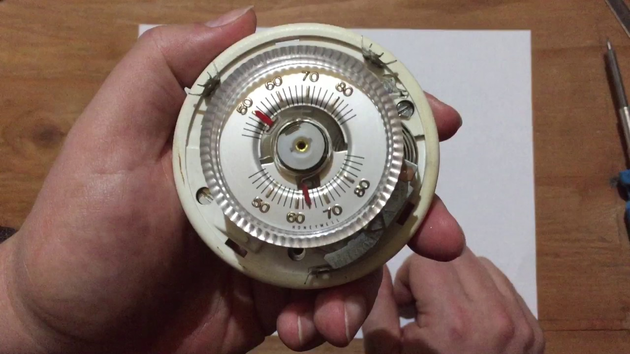 hight resolution of  022 classic honeywell round thermostat teardown