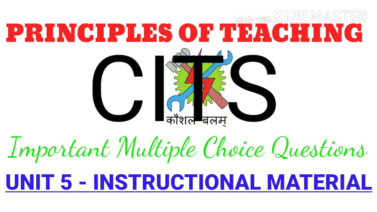 Unit 5 Instructional Material Principles Of Teaching Pot For Cits Trainees Youtube