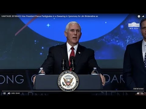 Vice President Pence Participates in a Swearing-in for Jim B