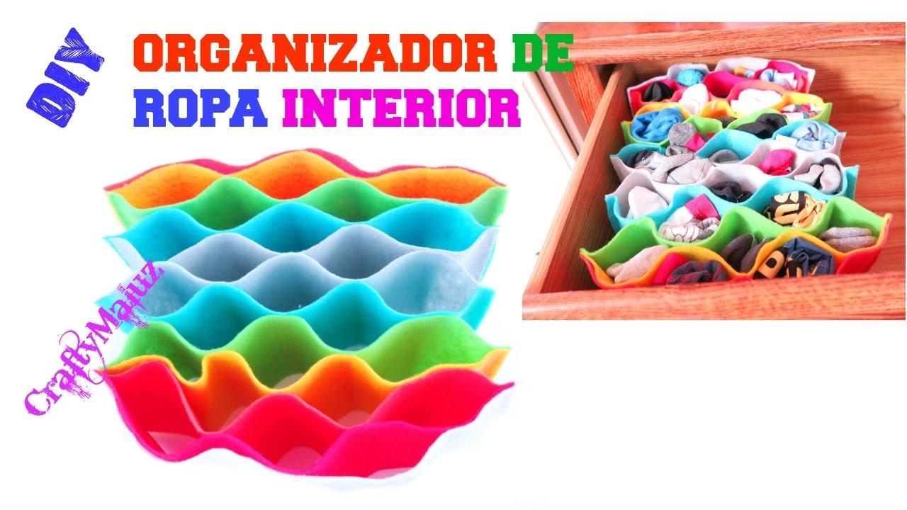 Haz un organizador de ropa interior manualidades f ciles para organizar youtube - Organizador de ropa interior ...