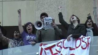 NYU Students Occupy Kimmel Center building - day 2