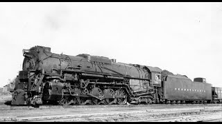 PRR J1a #6410 & SF 2-10-4 #5035 - Bellevue, Ohio (1956)