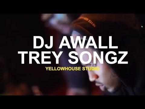 Exclusive Studio Footage DJ Awall & Trey Songz in studio