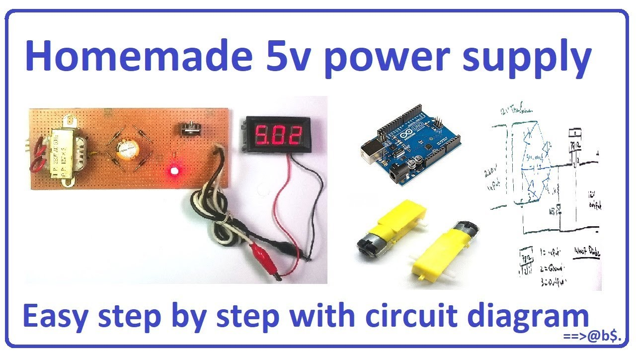 How To Make 5v Power Supply Easy At Home Step By With Circuit Wiring Diagram