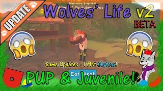 ROBLOX - Wolves' Life v2 BETA - PUP & Juvenile ARE OUT! #45 - HD