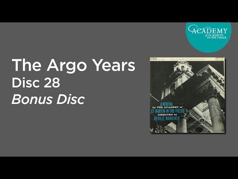 Academy of St Martin in the Fields - Neville Marriner interviews, Decca Disc 28