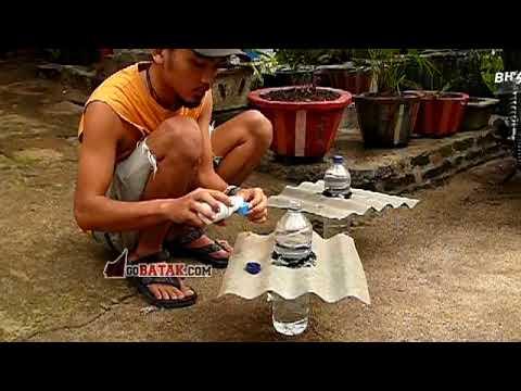 Membuat lampu botol 10 watt dari botol bekas tanpa listrik - GB green project 01